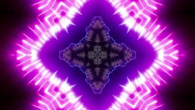 Powerful Blinking Neon Light Kaleidoscope 4K 04