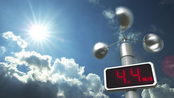 Thumbnail for Anemometer Shows 40 Meters Per Second Wind Speed