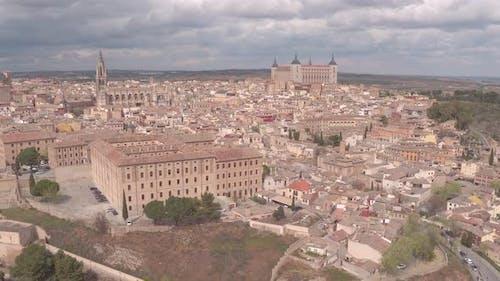 Luftaufnahme der Gebäude von Toledo