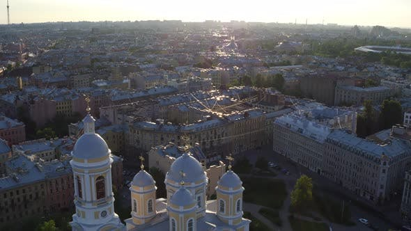 Thumbnail for Aerial View Of St.Vladimir's  Cathedral In Saint Petersburg 190