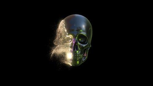 Scifi Skull Dissolve