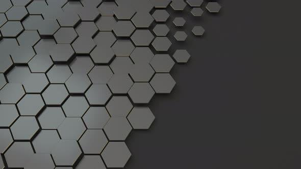 Thumbnail for Dark hexagon pattern background.