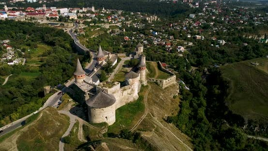 Thumbnail for Aerial View of Old Fortress in the City of Kamenets-Podolsky