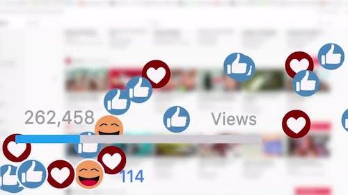 Social Media Followers Likes and Thumbs Views