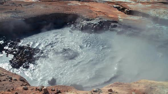 Thumbnail for Volcanic Field Fumarole Hot Spring in Iceland