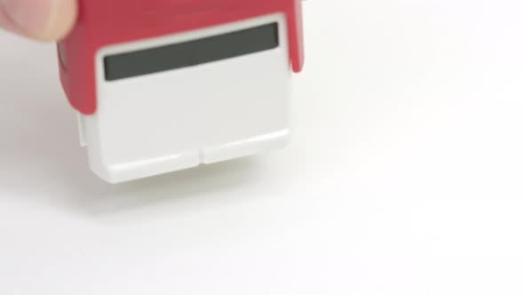 CONFIDENTIAL Red Rubber Stamp on the Paper
