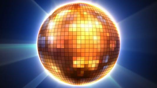 Thumbnail for 3D Shiny Disco Ball Loop