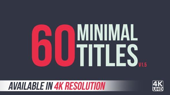 60 Minimal Titles   4K
