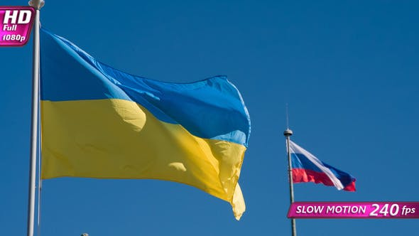 Thumbnail for Ukrainian And Russian Flags