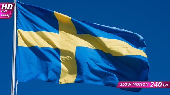 Thumbnail for Swedish Flag Waves The Wind