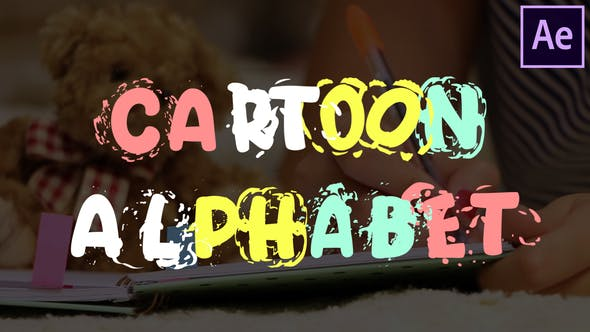 Thumbnail for Cartoon Alphabet | After Effects