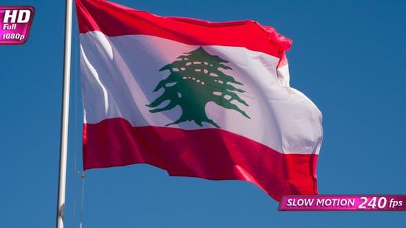 Thumbnail for Lebanese Flag Waves The Wind