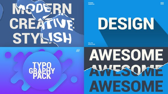 Thumbnail for Creative Typography Pack
