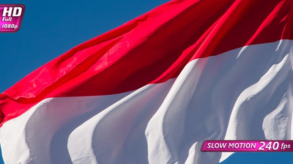 Thumbnail for Indonesian Flag Lit By The Sun