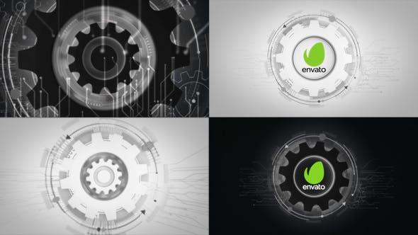 Thumbnail for Futuristic Gears Logo Reveals