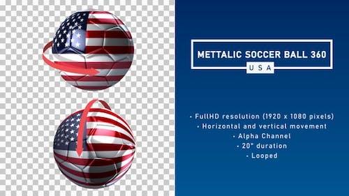 Mettalic Soccer Ball 360º - USA