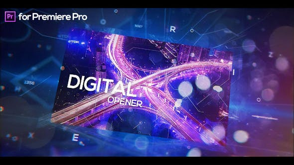 Thumbnail for Digital Holographic Opener for Premiere Pro