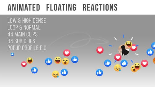 Facebook Live - Animated Floating Reactions Pack