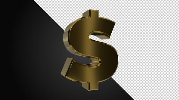Thumbnail for Golden Rotating Dollar Symbol