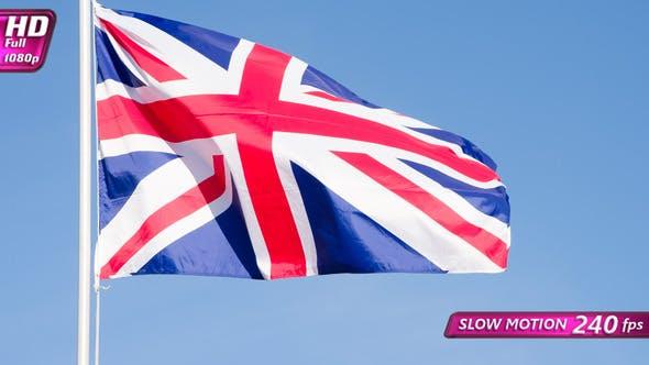 British Flag Lit By The Sun