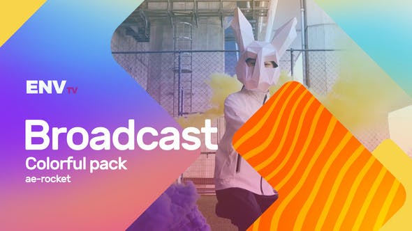 Thumbnail for Broadcast ID Colorful Pack Mogrt