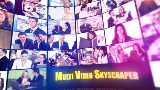 Thumbnail for Multi Video Skyscraper-Corporate Template