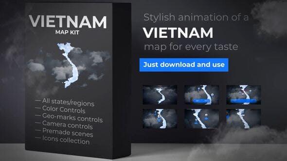 Thumbnail for Vietnam  Map - Socialist Republic of Vietnam Map Kit