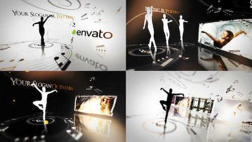 Elegant Ballet Dancers Video display presentation