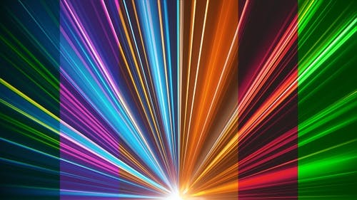 VJ Colorful Light Beams