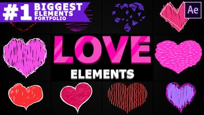 Cartoon Hearts   After Effects