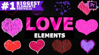 Cartoon Hearts | Premiere Pro MOGRT