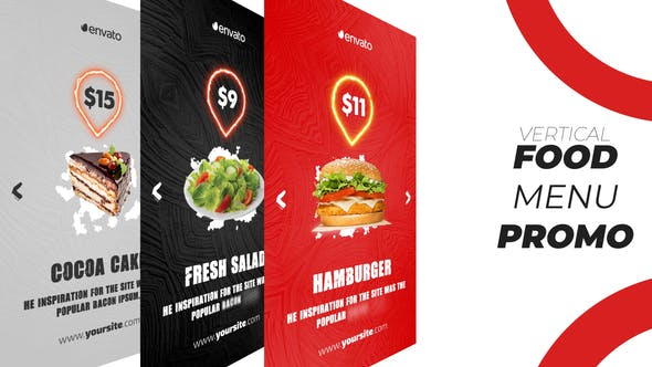 Thumbnail for Food Menu Promo (Vertical)