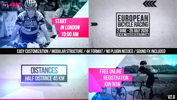 Cycling Marathon Broadcast Design v2.0 - product preview 0