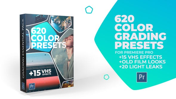 Thumbnail for 620 Cinematic Color Presets, 15 VHS Video Effects, Old Film Looks