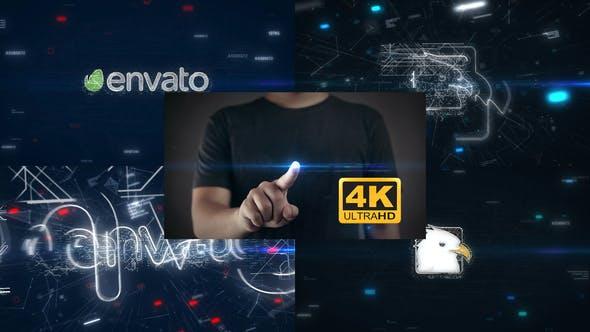 Thumbnail for Touch Screen Logo Reveal 4K