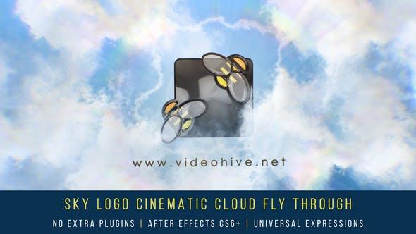 Thumbnail for Sky Logo Cinematic Cloud Fly-Through