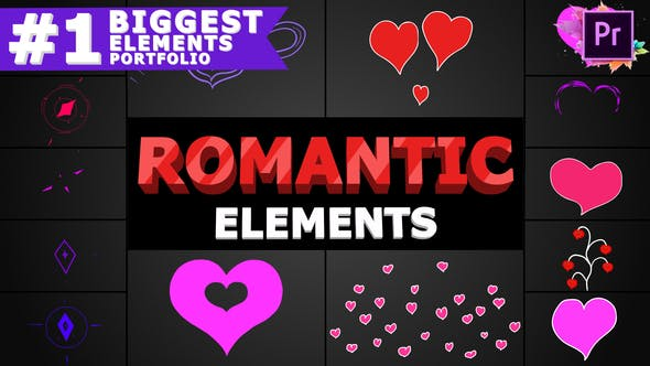 Thumbnail for Romantic Elements | Premiere Pro MOGRT