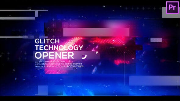 Thumbnail for Technology Glitch Opener for Premiere Pro