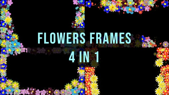Thumbnail for Flowers Frame - 4 in 1