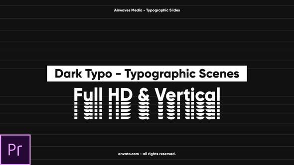 Dark Typo - Typographic Scenes