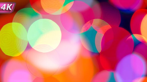 Thumbnail for Bright Multi Colored Bokeh In The Night