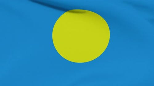 Flag Palau Patriotism National Freedom Seamless Loop