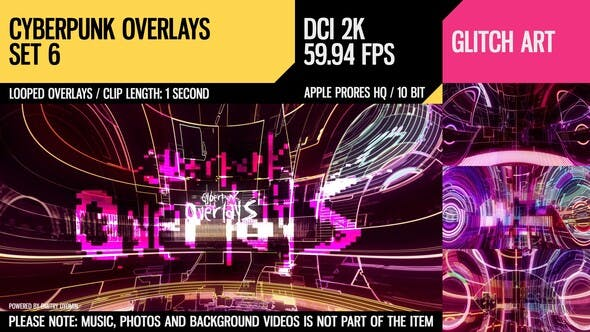 Thumbnail for Cyberpunk Overlays (2K Set 6)