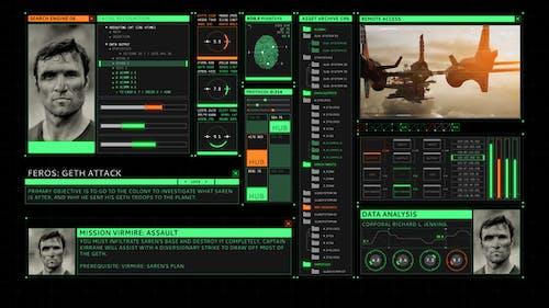 HUD Retro User Interface Screen