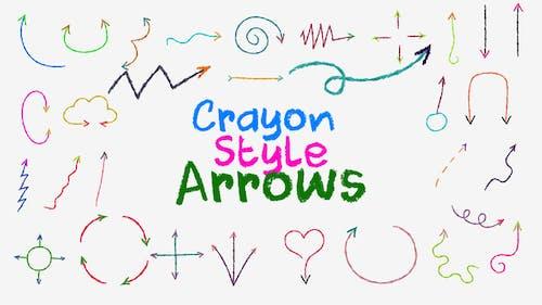 Crayon Style Arrows