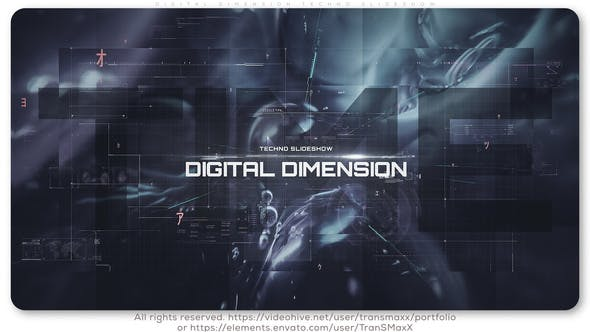 Thumbnail for Digital Dimension Techno Slideshow