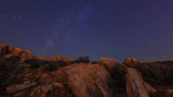 Thumbnail for Timelapse tilting shot of the mountains at the Nevada desert