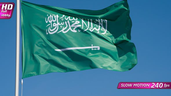 Thumbnail for Flag Of Saudi Arabia Lit By The Sun