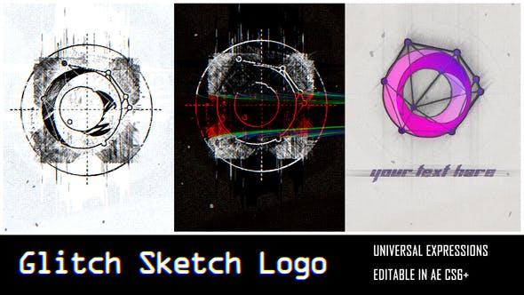 Glitch Sketch Logo