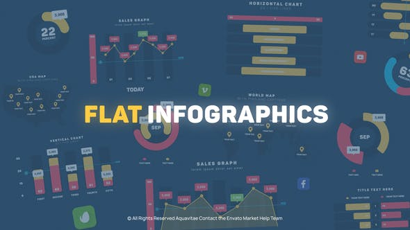 Thumbnail for Flat Design Infographics